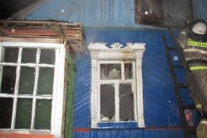 В Брянском районе сгорел жилой дом: есть пострадавший