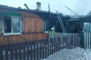 В брянском поселке Большое Полпино сгорел частный дом