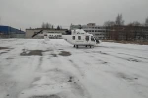 Санитарный вертолет доставил больного пенсионера из Новозыбкова в Брянск