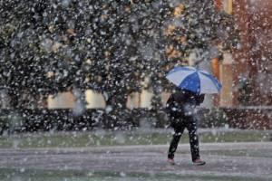 Брянцам в четверг пообещали мокрый снег и дождь