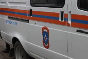 В Брянске на улице Фокина сгорела легковушка