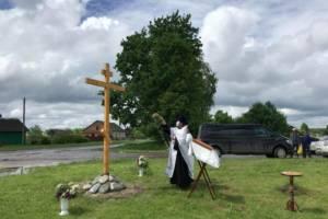 В Карачевском районе на месте разрушенных храмов установили кресты
