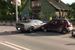 В Брянске на улице Дуки в ДТП ранена автоледи
