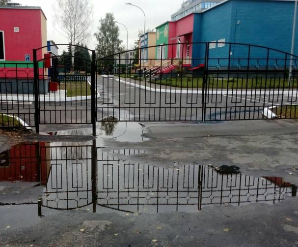 Брянских чиновников упрекнули в непрофессионализме за лужи у детского сада