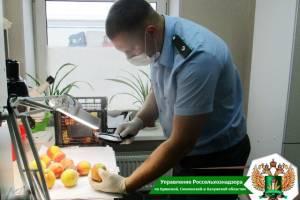 На Брянщину с персиками привезли опасных вредителей