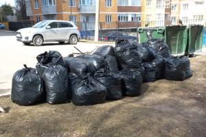 В Брянске с территории зеленой зоны на Дуки вывезли 20 мешков мусора