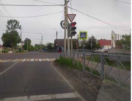 В Брянске на улице Делегатской сломался светофор