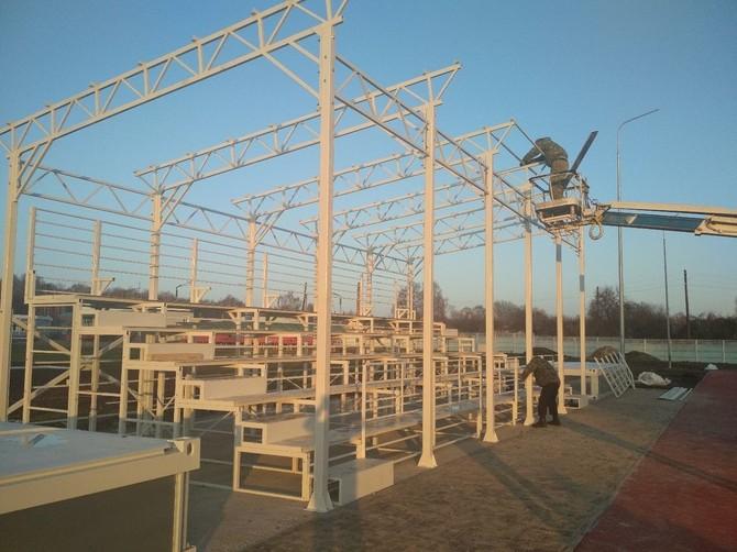В Стародубе строят спортплощадку с трибунами на 100 мест
