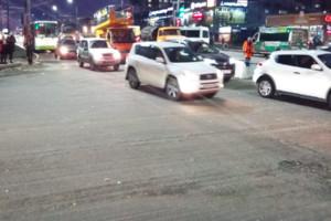 В Брянске сотни автомобилей застряли в пробке на Авиационной