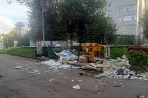 В Брянске возле площади Партизан образовалась огромная свалка