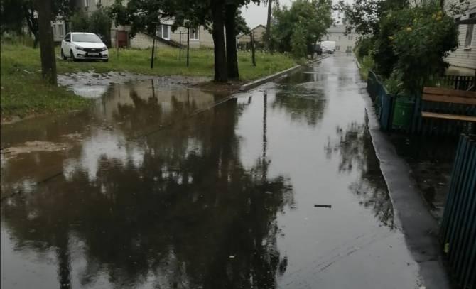 Брянский посёлок Локоть начал уходить под воду