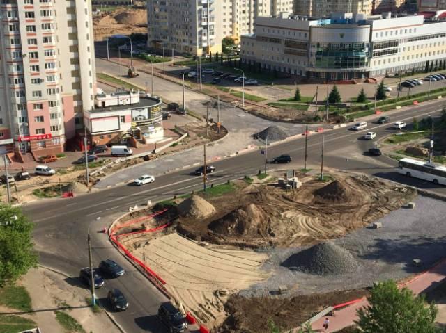 В Брянске на 79% построили дорогу на улице Советской