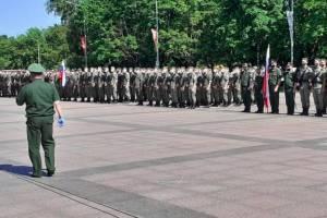 В Брянске провели вторую репетицию Парада Победы