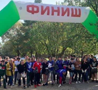 Брянцы приняли участие в забеге со сбором мусора