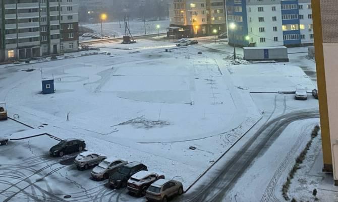 Брянск засыпало мокрым снегом