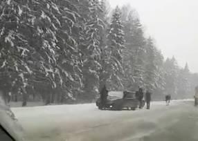 На брянской трассе произошла авария