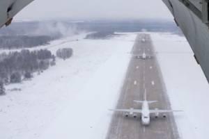 Под Брянском впервые в истории взлетели одновременно шесть самолетов «Руслан»