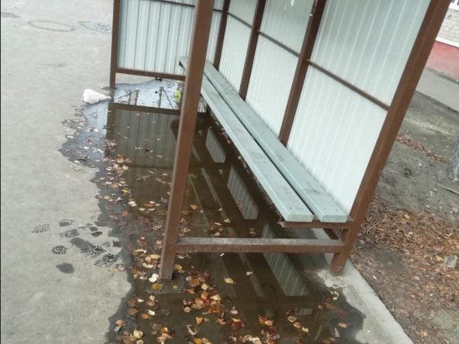 Брянцев поразила затопленная остановка на Ново-Советской