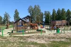Лошади-вандалы атаковали детскую площадку в брянском посёлке