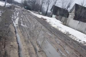 Скандальная дорога в брянском селе Могилевцы утонула в грязи