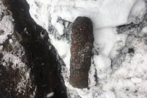 В Брянске на улице Союзная нашли артиллерийский снаряд
