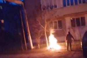 В Новозыбкове женщина устроила костер возле газовых труб