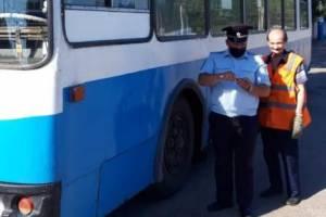 В Брянске сотрудники ГИБДД нашли семь неисправных троллейбусов