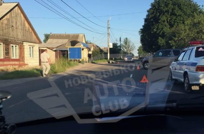 В Новозыбкове водитель мотоцикла протаранил внедорожник Honda