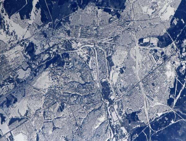 Заснеженный Брянск сфотографировали из космоса