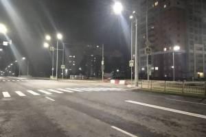 В Брянске разогнали мрак на дороге по улице Советской