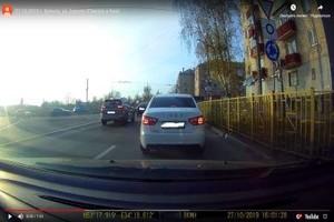 В Брянске на 500 рублей оштрафовали двух автохамов