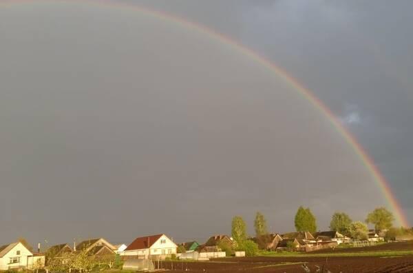 Под Трубчевском сфотографировали красивую радугу