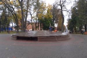 В Брянске фонтан в сквере Карла Маркса законсервировали на зиму