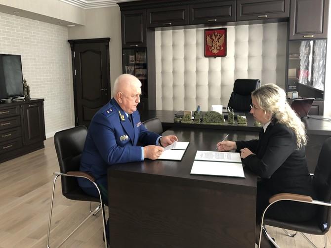 Главный прокурор Брянщины и детский омбудсмен договорились о сотрудничестве