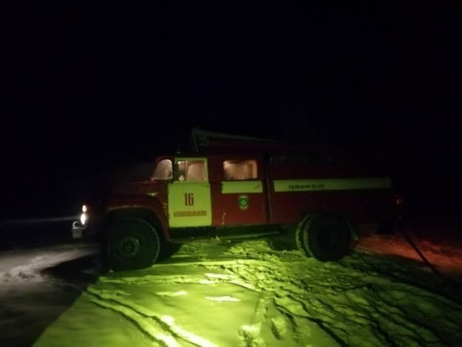 В Новозыбкове сгорело нежилое здание