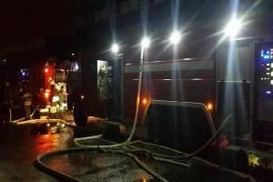 Под Трубчевском почти час тушили пожар в кирпичном здании