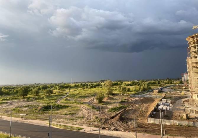 На Брянск обрушился ураганный ветер