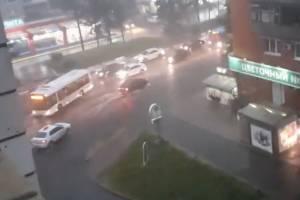 В Брянске из-за рухнувшего дерева встала в пробке Красноармейская