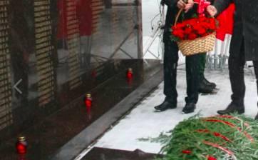 В брянской деревне Масловка открыли мемориал павшим солдатам