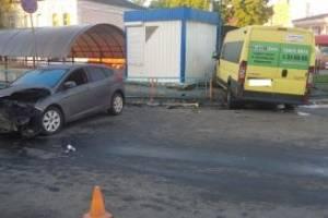 В ДТП на автовокзале в Брянске ранен 36-летний маршрутчик