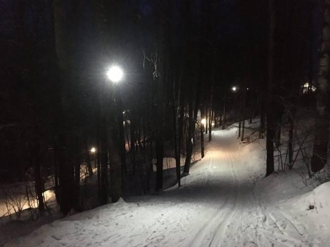 В Брянске осветили лыжную трассу в Соловьях