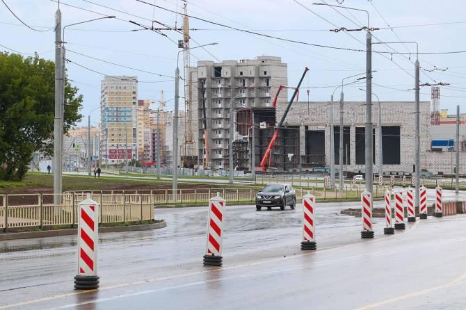 В Брянске завершают строительство участка улицы Советской
