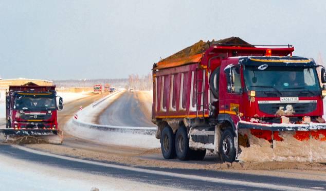 В Брянской области спецтехника продолжила уборку федеральных трасс