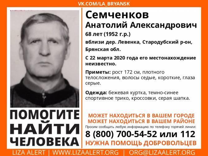 Пропавший 68-летний брянский пенсионер найден погибшим