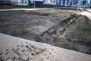 На новой дороге по улице Грибачева появились очередные провалы