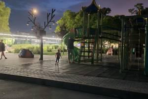 Брянцев возмутила «несусветная темень» на детской площадке в центре города
