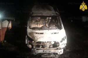 В Дятьково сгорел микроавтобус Ford