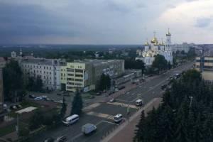 На Брянск обрушился дождь с грозой