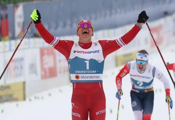 Брянский лыжник Большунов впервые стал чемпионом мира