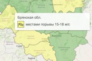 В Брянской области снова продлили желтый уровень опасности